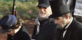Première photo de Daniel Day-Lewis sur le tournage de LINCOLN réalisé par Spielberg
