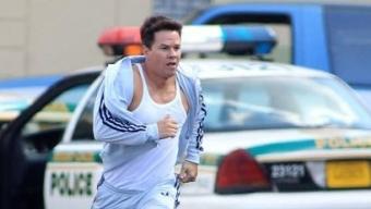 Michael Bay et Mark Wahlberg sur le tournage de Pain and Gain