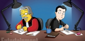 Les Simpsons reçoivent les Griffin à Springfield